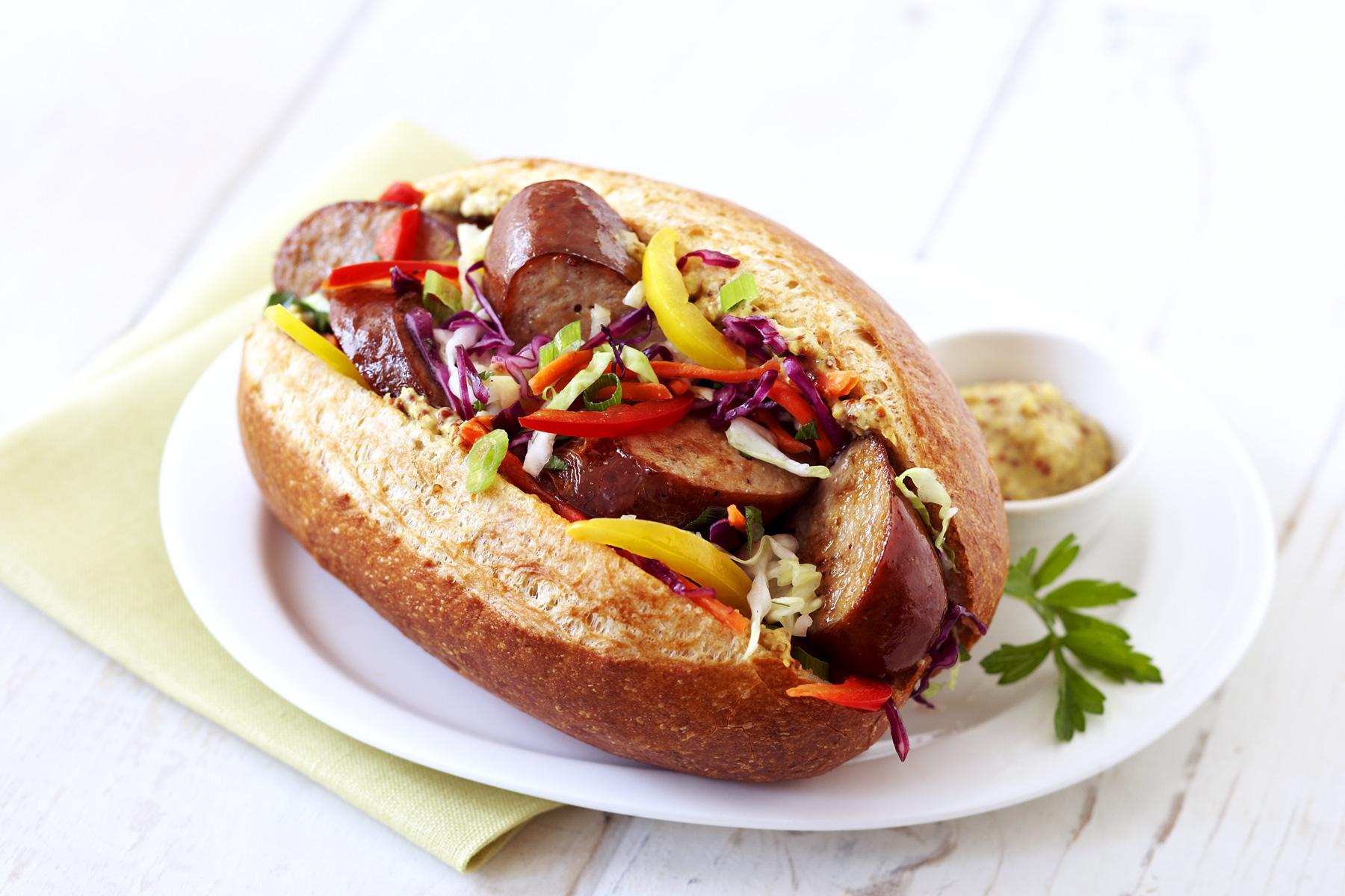 Andouille Sausage Hot Dog