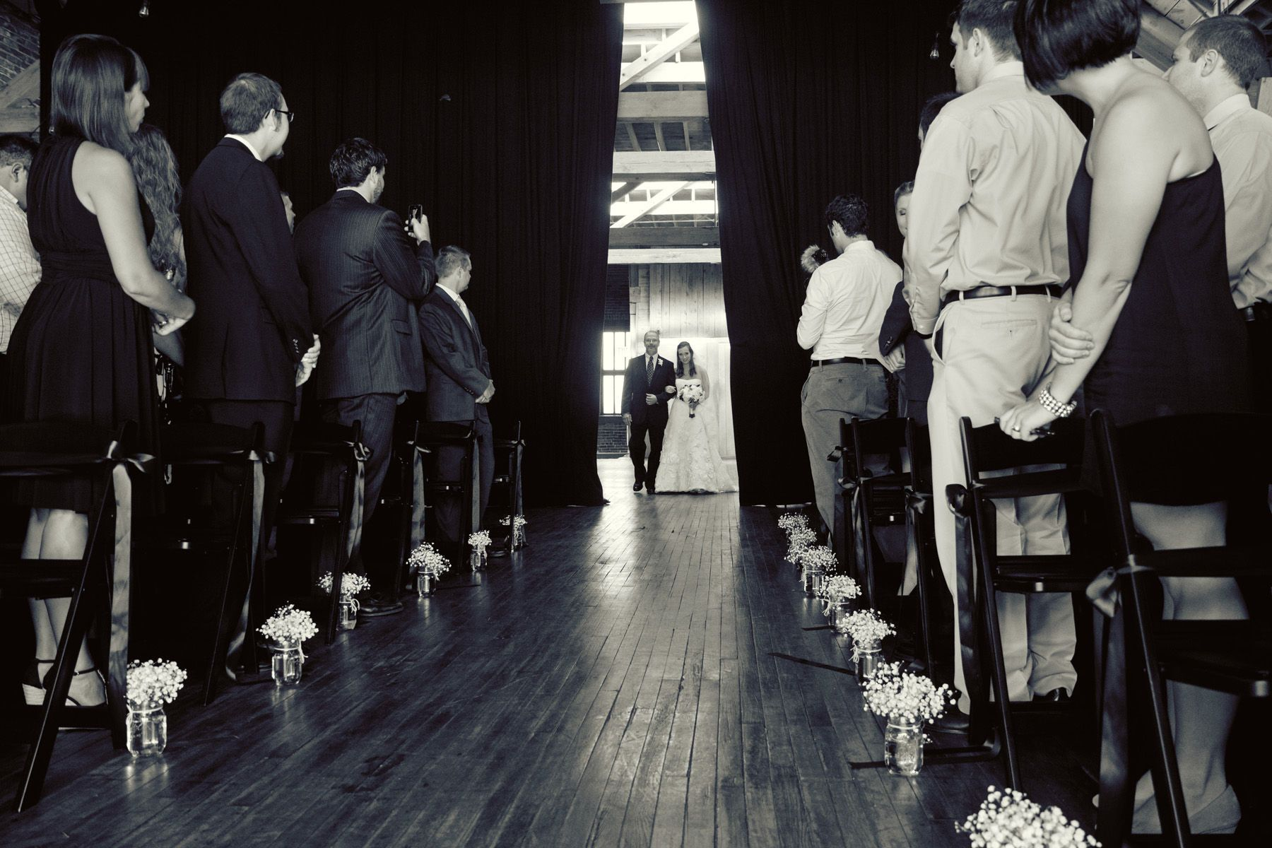 theater style ceremony