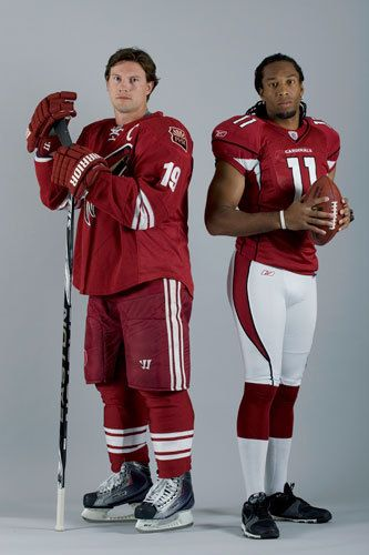 Shane Doan and Larry Fitzgerald