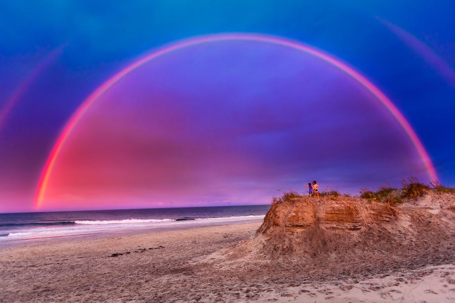 Full Double Rainbow - Landscape Image The Dunes of OBX.jpg