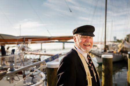 Portrait of Chaplain -  Blessing of the Fleet - Deal Island SkipJack Race.jpg