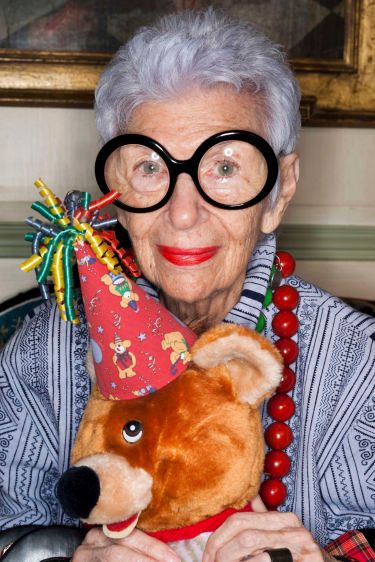 Iris Apfel, style icon and interior designer.