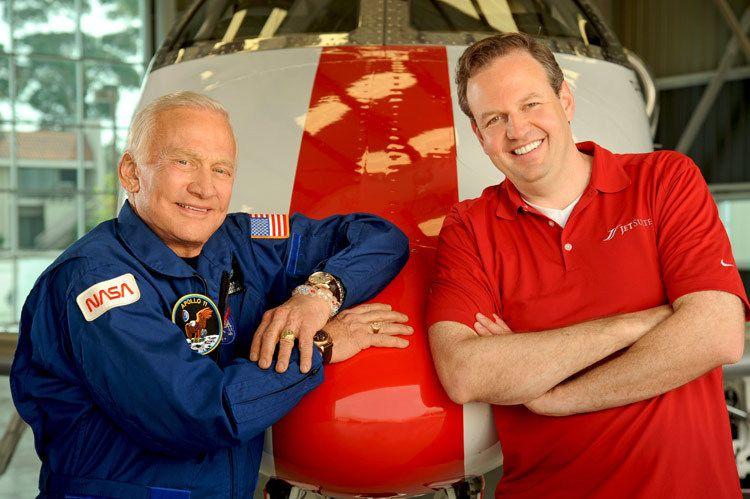 Buzz Aldrin and Alex Wilcox ~JetSuite