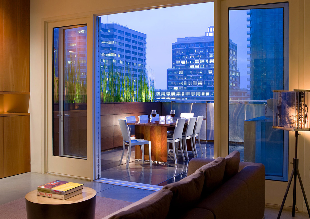 John-Sutton-Photography-Loft Balcony at Dusk