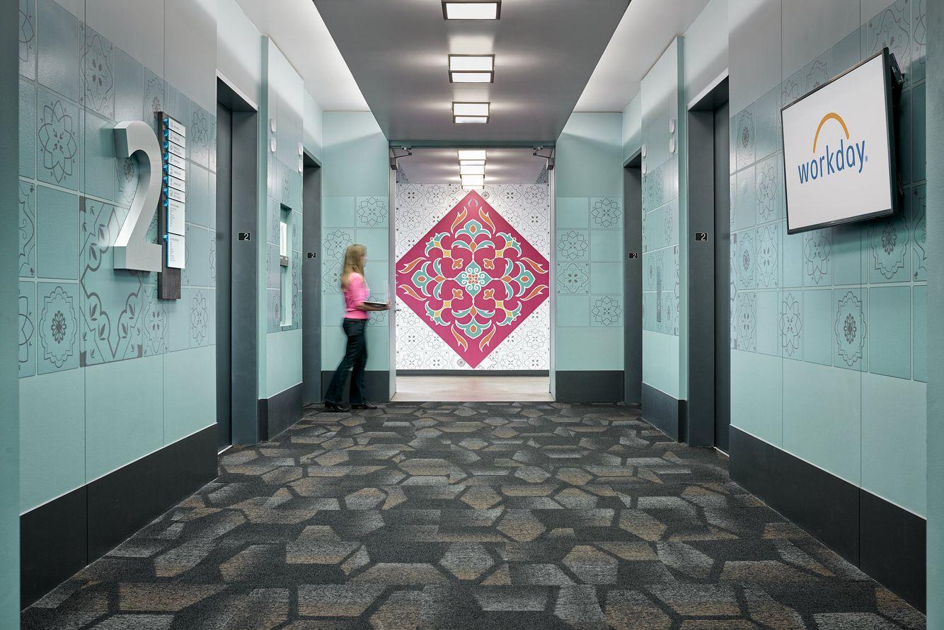 second floor elevator lobby