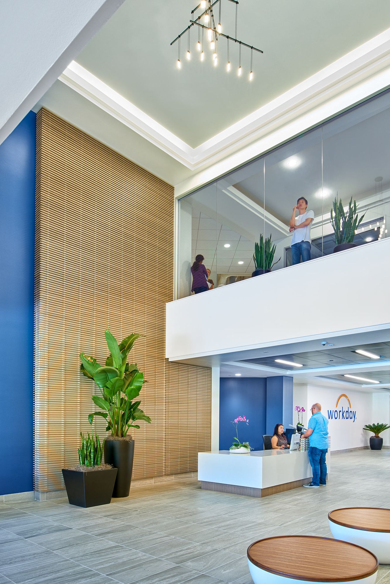 building lobby and Workday