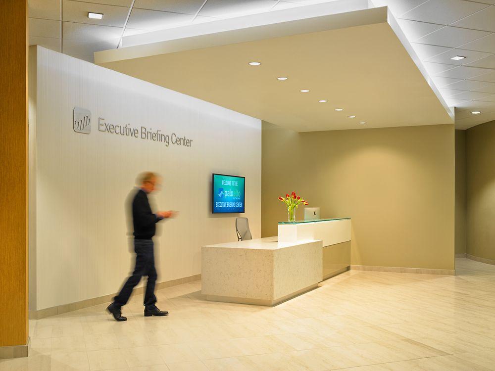 Palo Alto networks Executive Briefing Center Reception