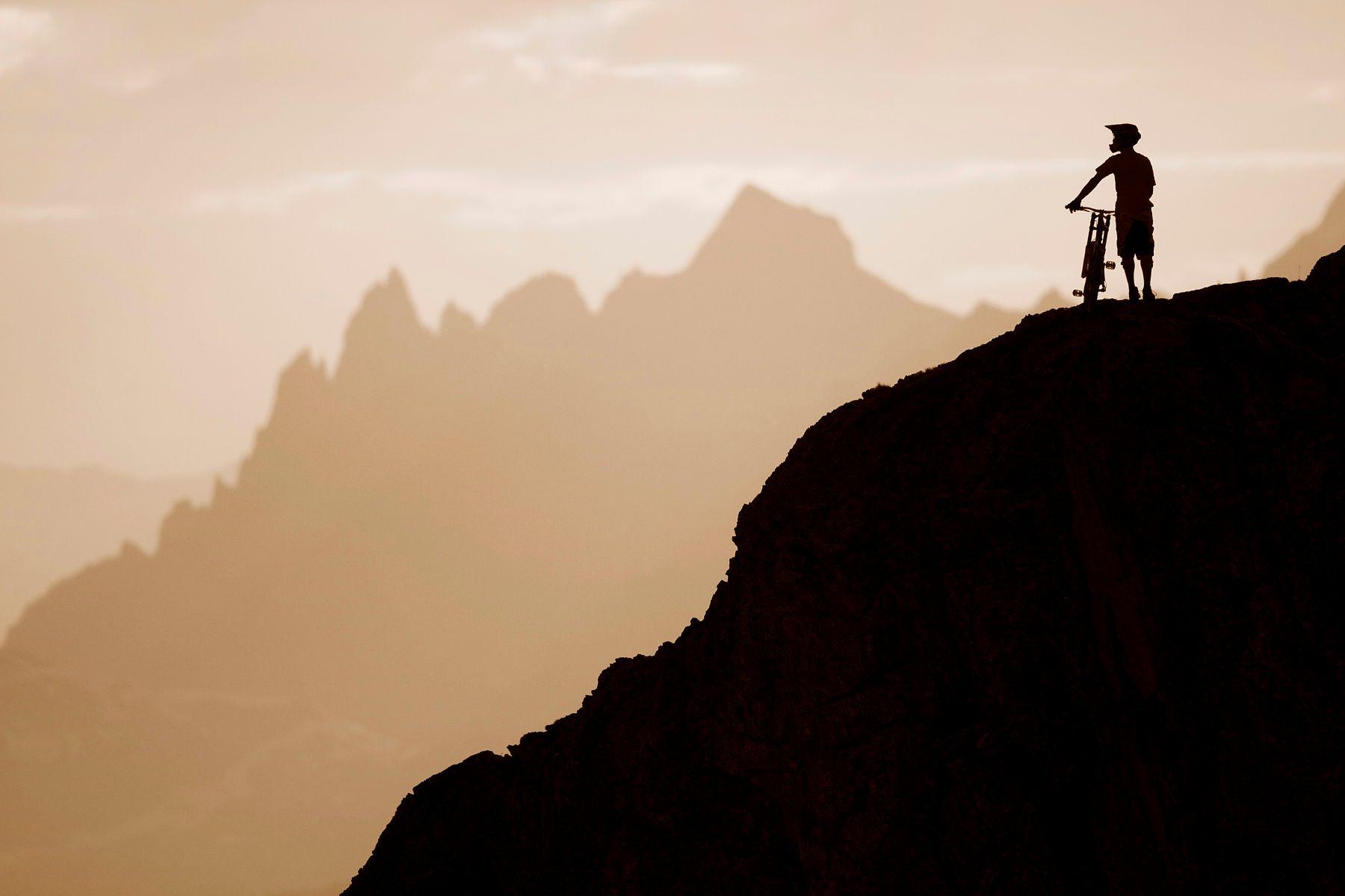 Ian Morrison riding on Whistler Mountain