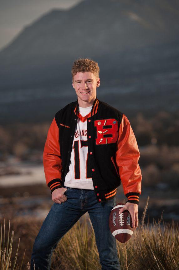 Football high school senior portraits