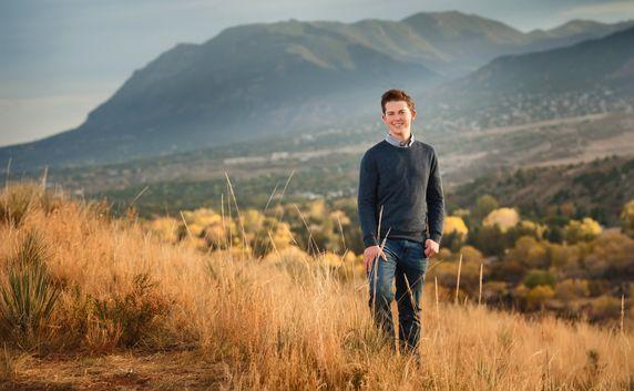colorado springs urban high school senior mountain portraits