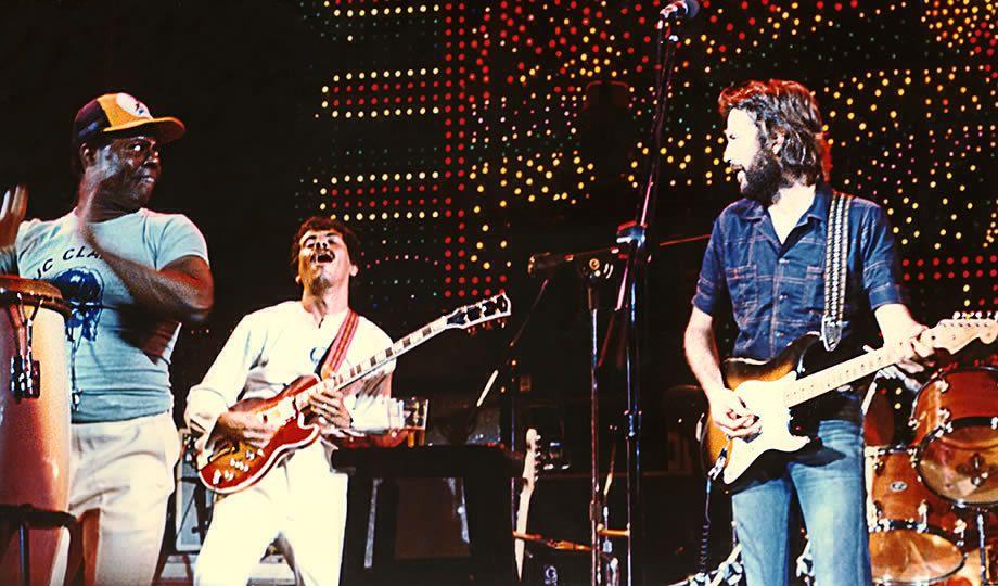 Eric Clapton and Carlos Santana
