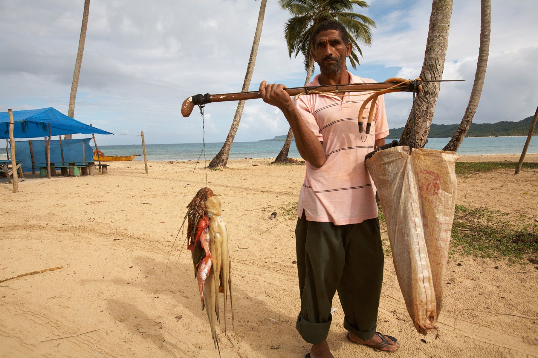 Spearfisherman on the Samana Peninsula, Dominican Republic