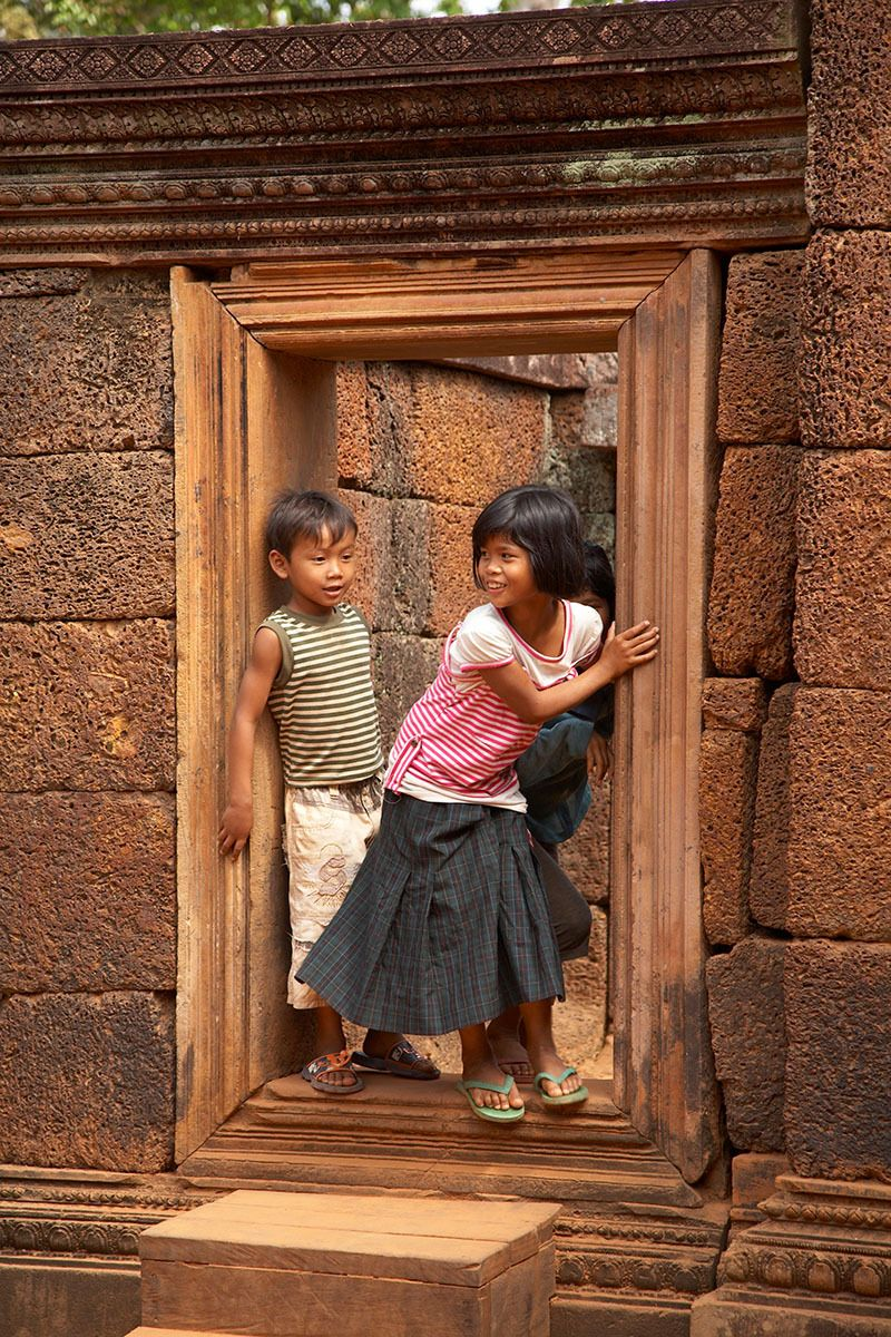 Playing among the ruins of Angkor