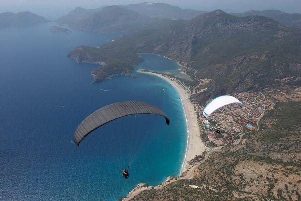 Paragliding over Oludeniz, Turkey