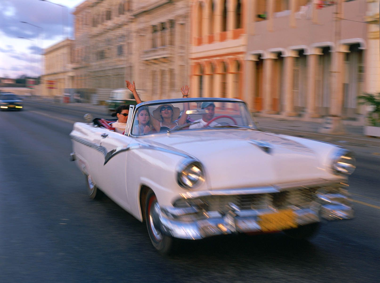 Cruising down the Malecon, Havana, Cuba