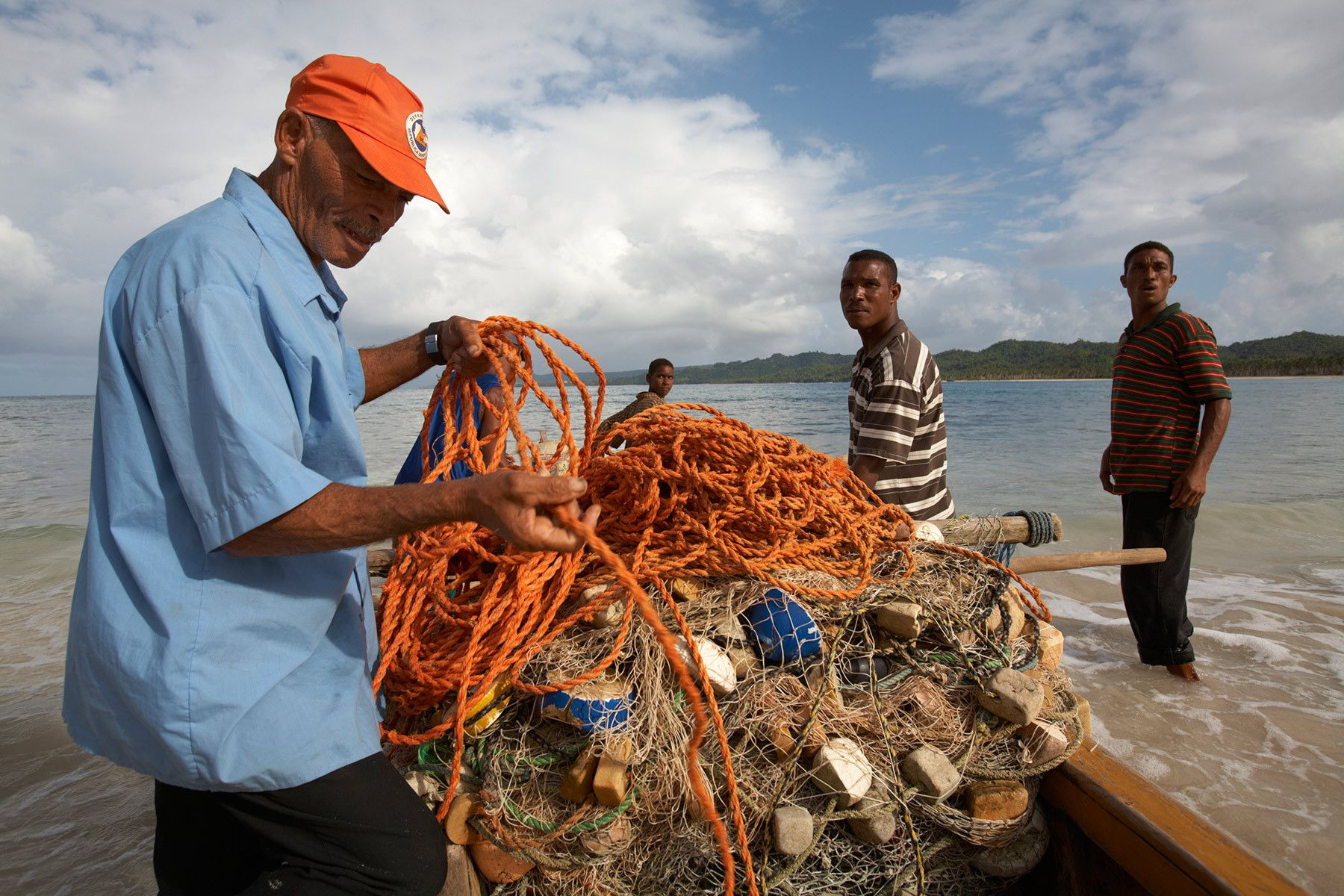 Fishermen on the Samana Peninsula, Dominican Republic