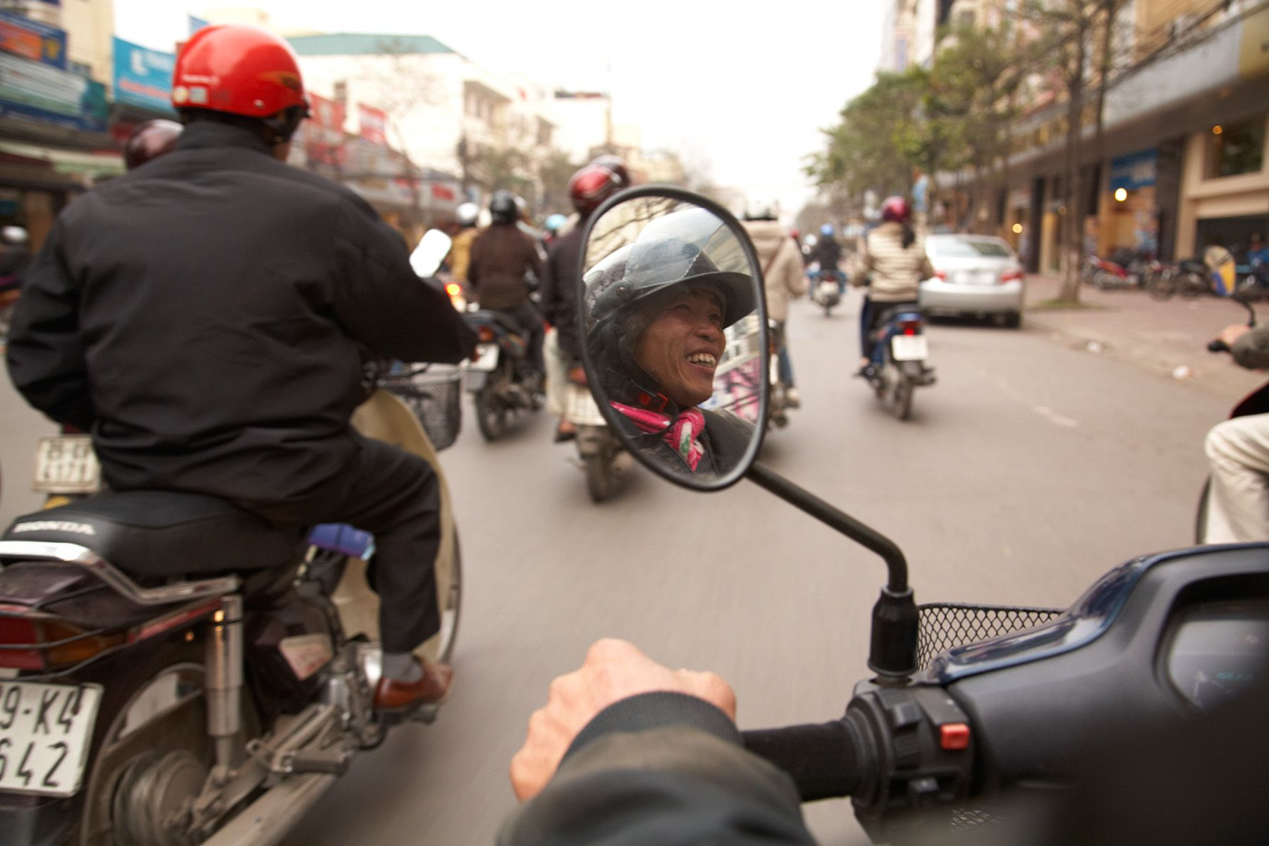 Enroute in Hanoi