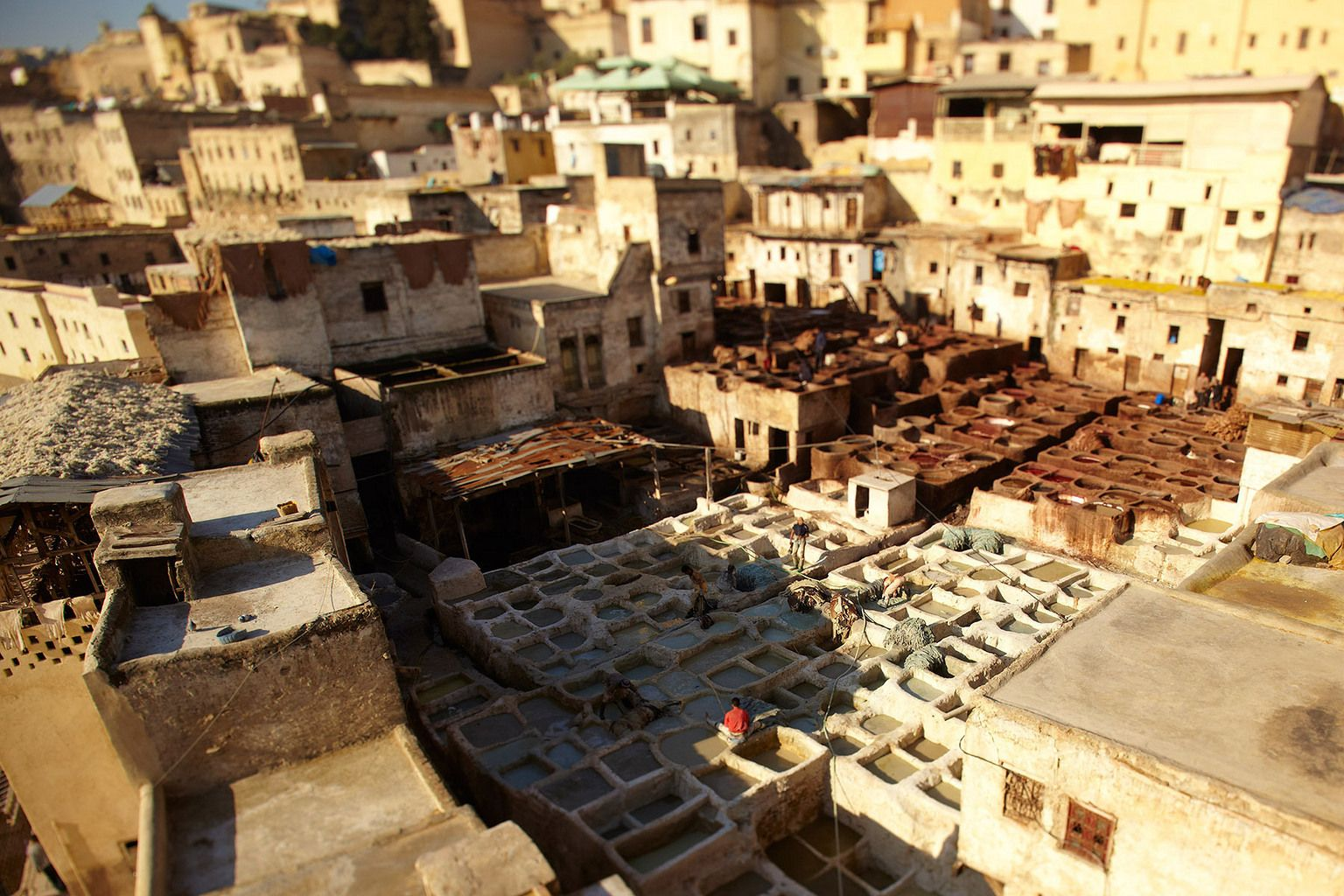 The largest tannery in Fez, Morocco