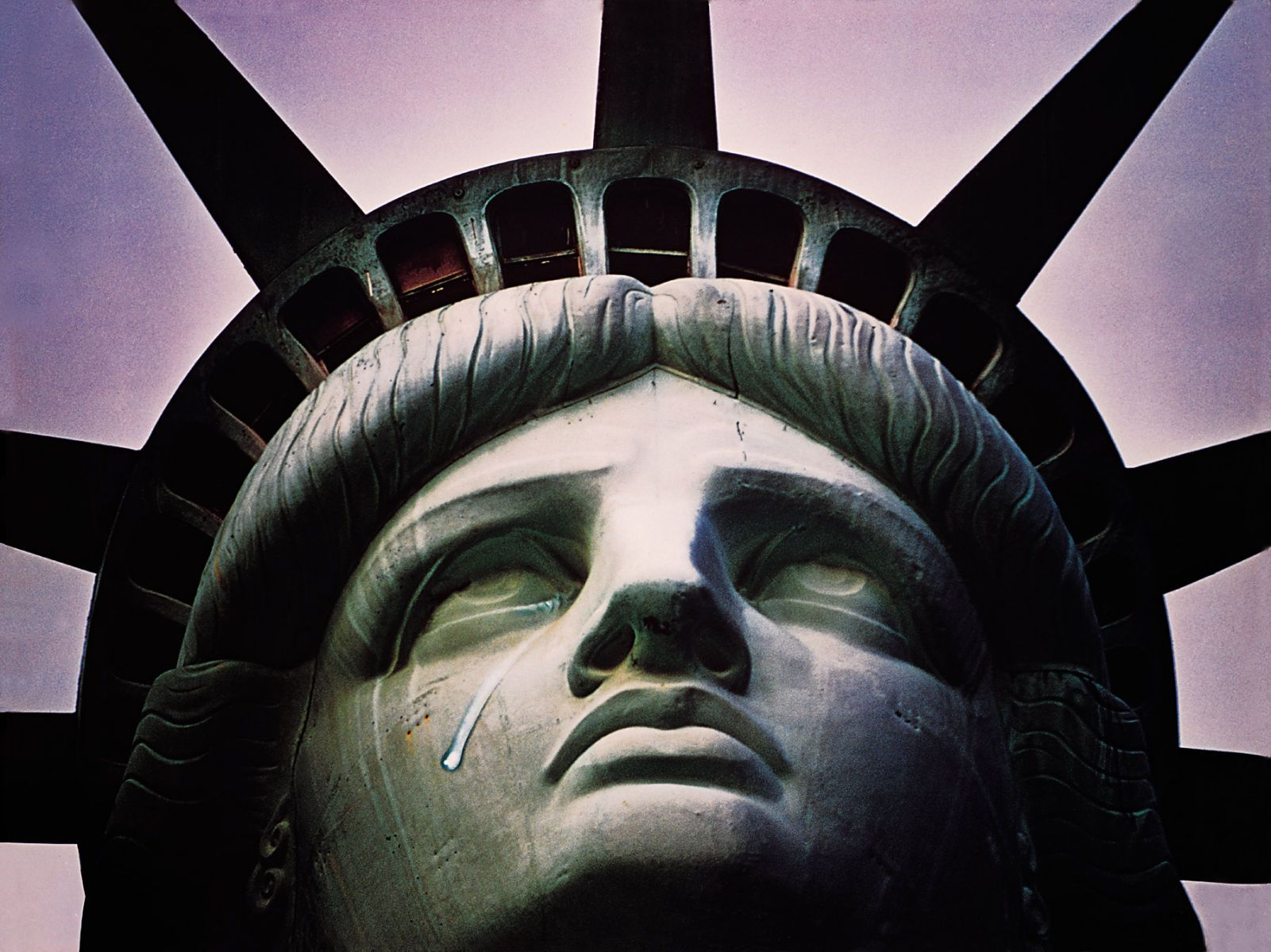 STATUE OF LIBERTY WITH TEAR