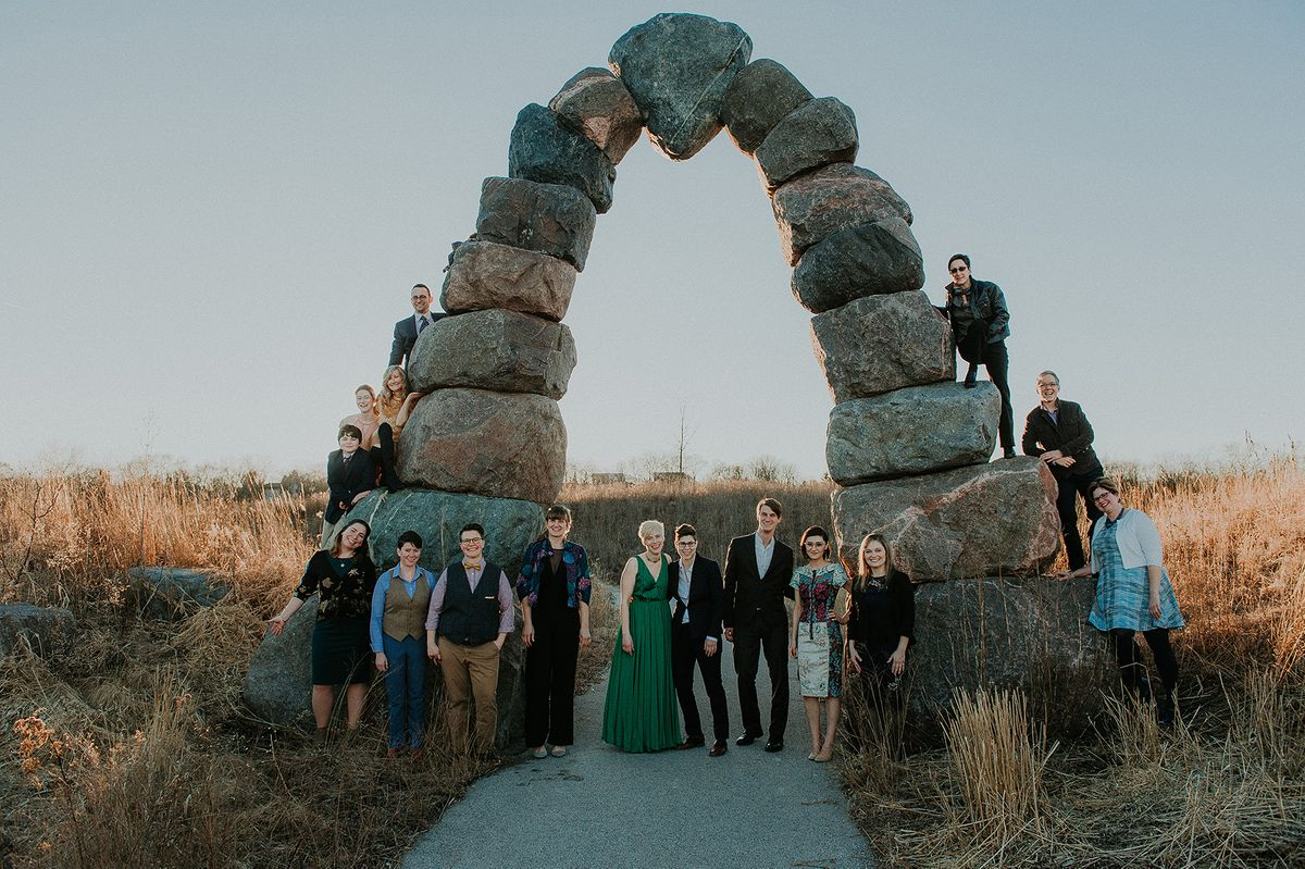 Bridal Party By Arch Rocks - CampBride