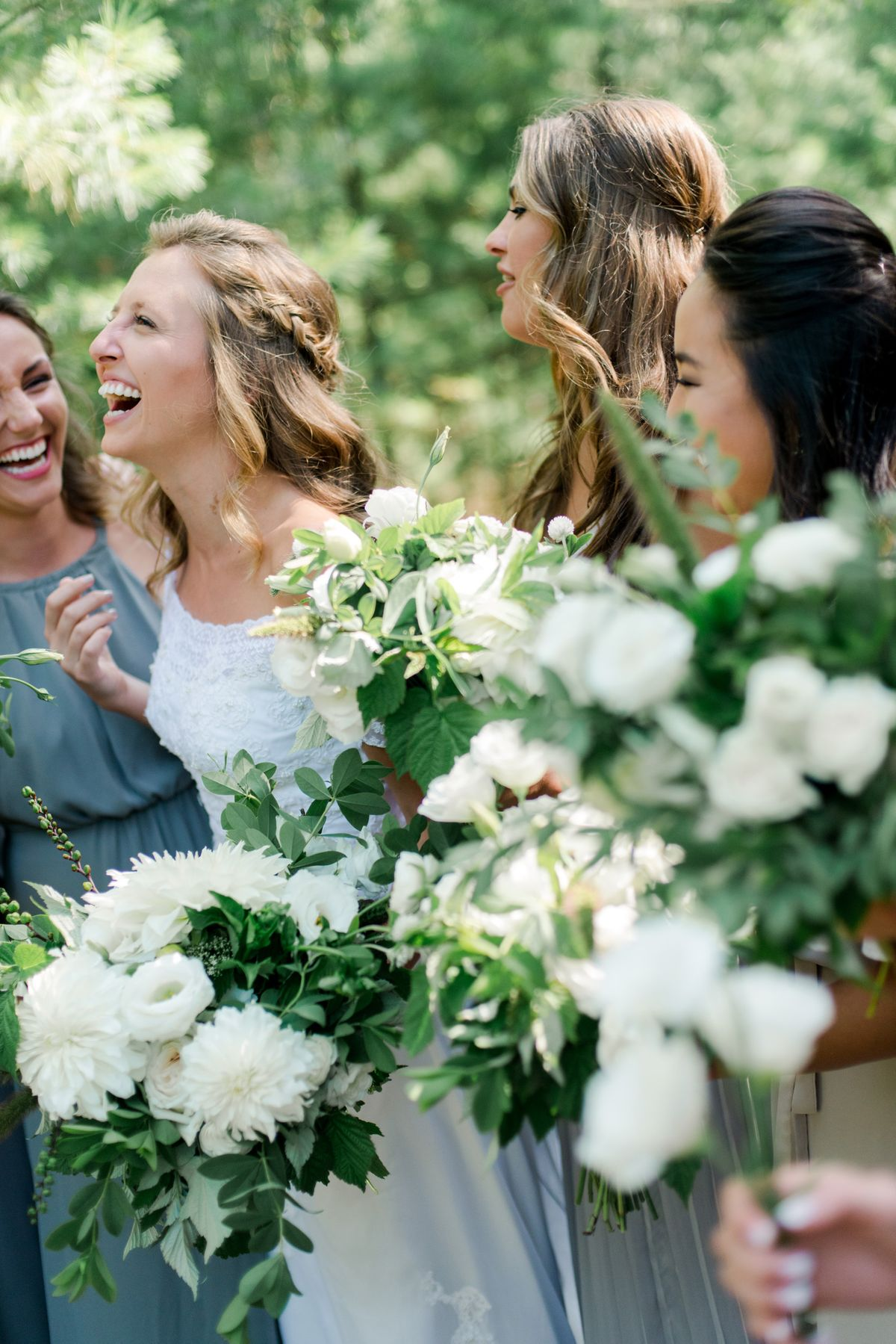 Bride Laughing Outside - CampBride