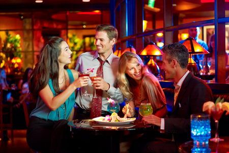 couples at Blue Martini bar