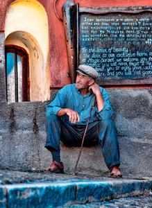 Santorini Greece-mule-driver