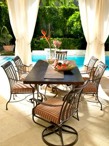patio furniture pool side