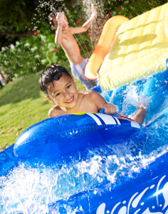 boy and slip-and-slide