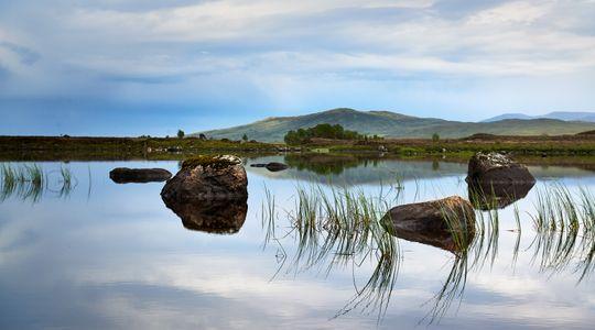 Three-Rocks in lake