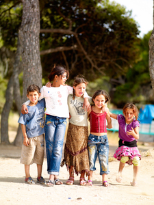 Roma-children-Kavouri-Beach Greece