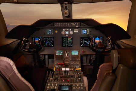 Gulfstream jet cockpit