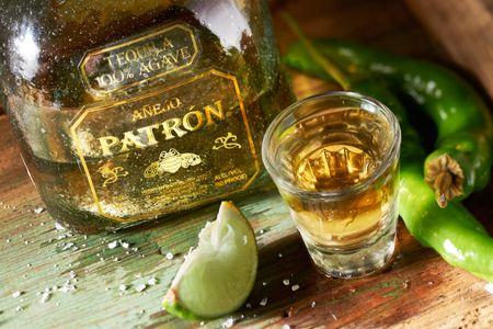 Patron tequila shot