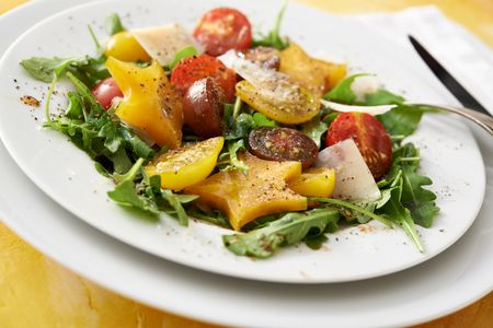 Heirloom tomato and starfruit salad