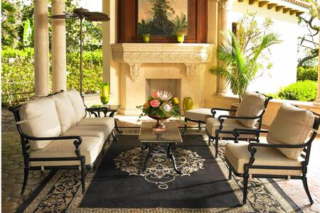 patio furniture on veranda