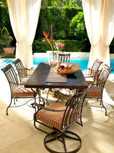 patio furniture pool side