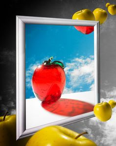 Salvador Dahli-like-apples-poster