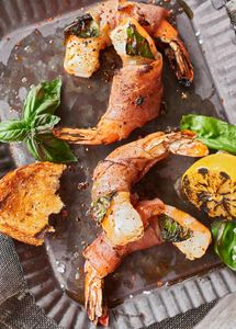 Shrimp and prosciutto appetizer