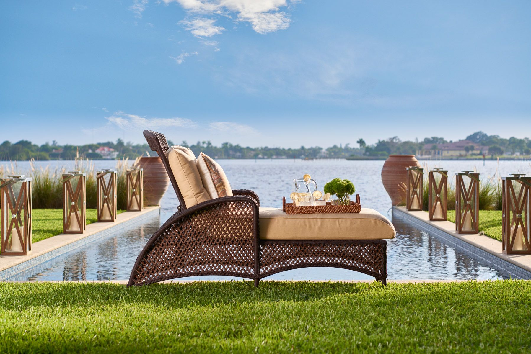 Chaise by the bay
