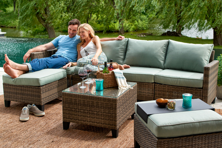 Patio lifestyle by the lake