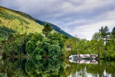 Sunken-Boat  Loch Oich Scotland