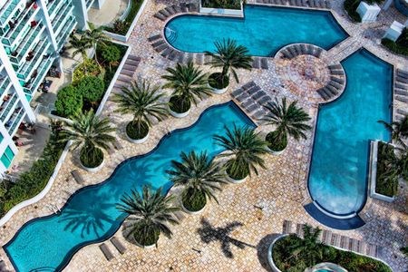 Modern arrow swimming pool
