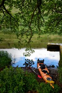 Kayak on Loch Oich Scotland