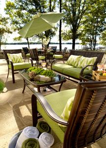 patio furniture lake side