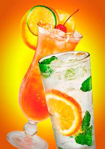 Tropical beverage sunrise