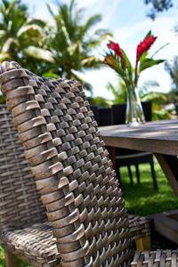 Ratan chair close-up