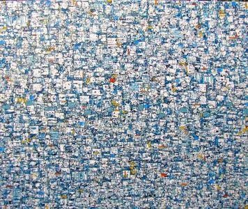 Rain, 60x72, oil/ink on canvas, 2016  $13,400