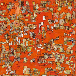 Chrome Orange 18x18 oil on canvas 2011SOLD