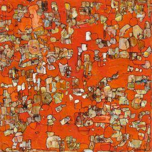 Chrome Orange 18x18 oil on canvas 2011SOLD