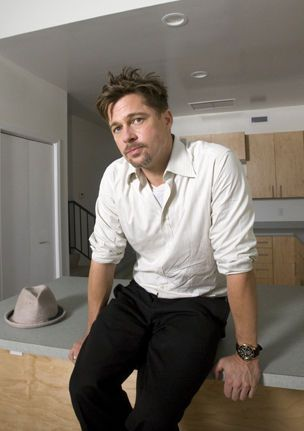 Brad Pitt, New Orleans, 2008.